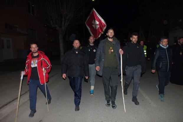 Hodočasnici iz Beograda stigli ispred Nikšića