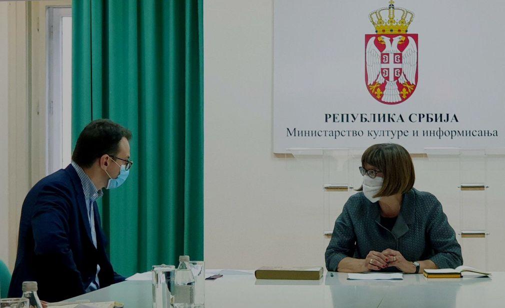 Petković i Maja Gojković o zaštiti kulturnog nasleđa na KiM