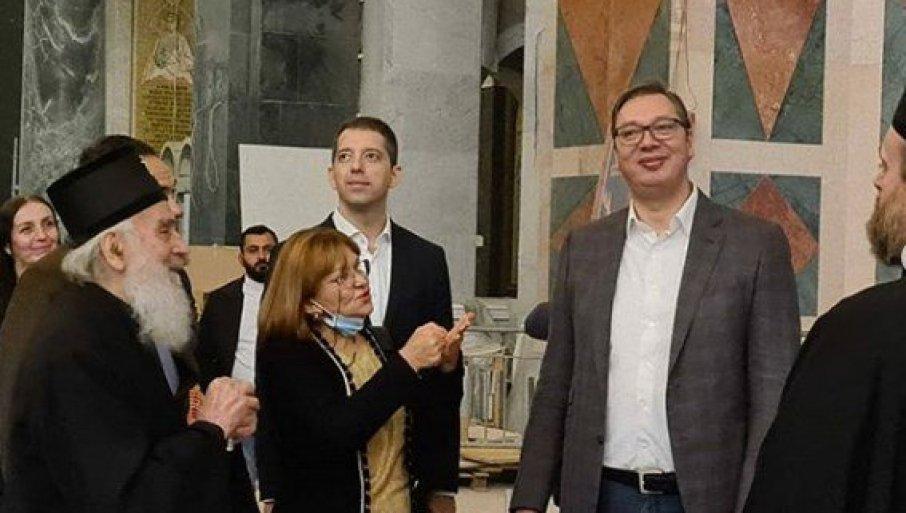 Vučić obišao završne radove na Hramu Svetog Save