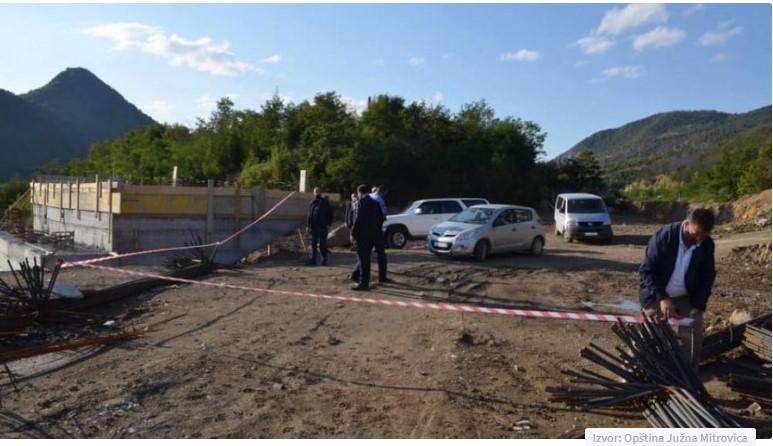 Koha: Obustavljena izgradnja mosta u Mitrovici, izvođač nije imao dozvolu