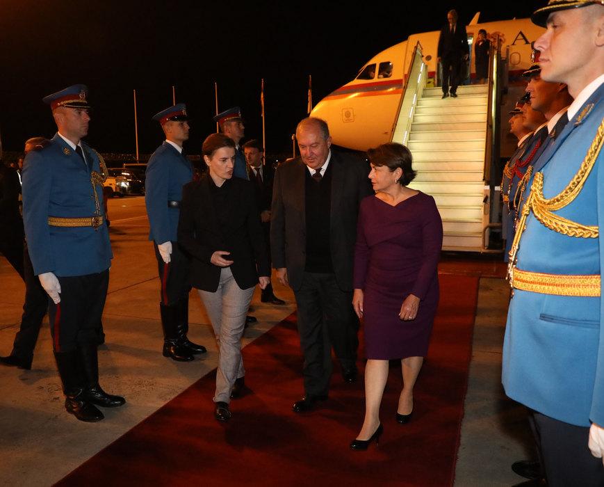 Predsednik Jermenije doputovao u Srbiju