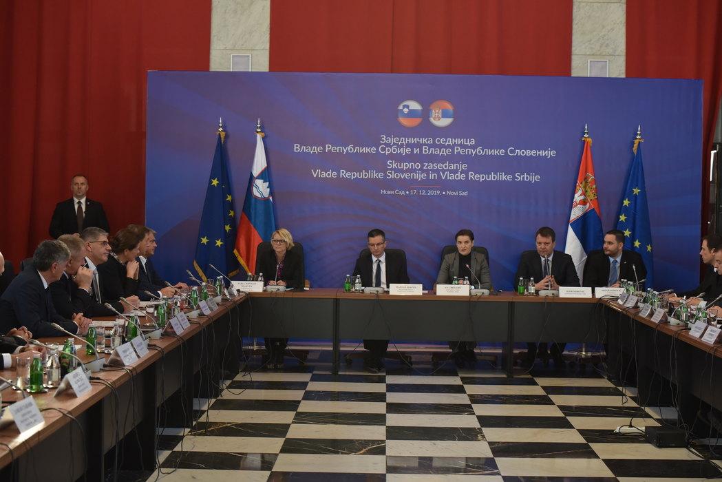 U Novom Sadu počela zajednička sednica vlada Srbije i Slovenije