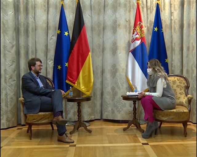 Joksimović s poslanikom Bundestaga o evrointegracijama Srbije