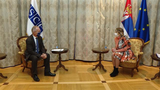Joksimović: Aktivna saradnja sa OEBS-om u oblasti vladavine prava
