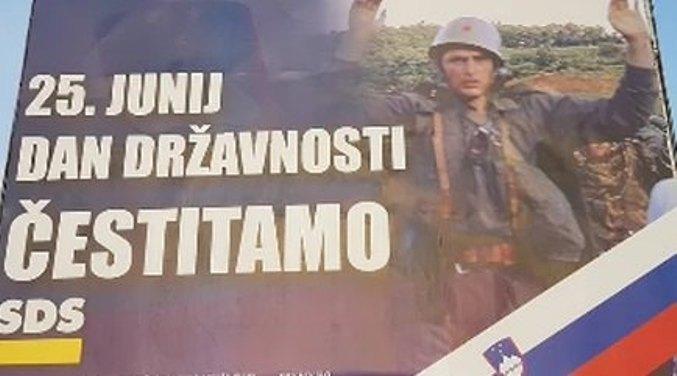 U Sloveniji osvanuo neumesan bilbord sa vojnikom JNA