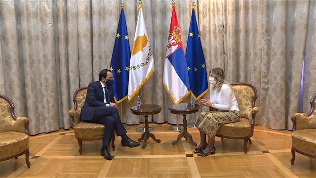 Joksimović i Hristodulidis: Iskrena podrška putu Srbije ka EU