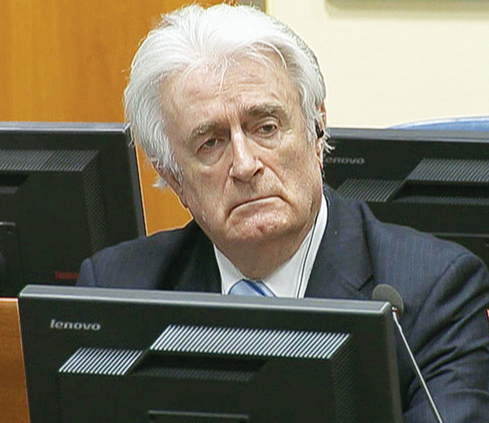 Karadžić osuđen na kaznu doživotnog zatvora