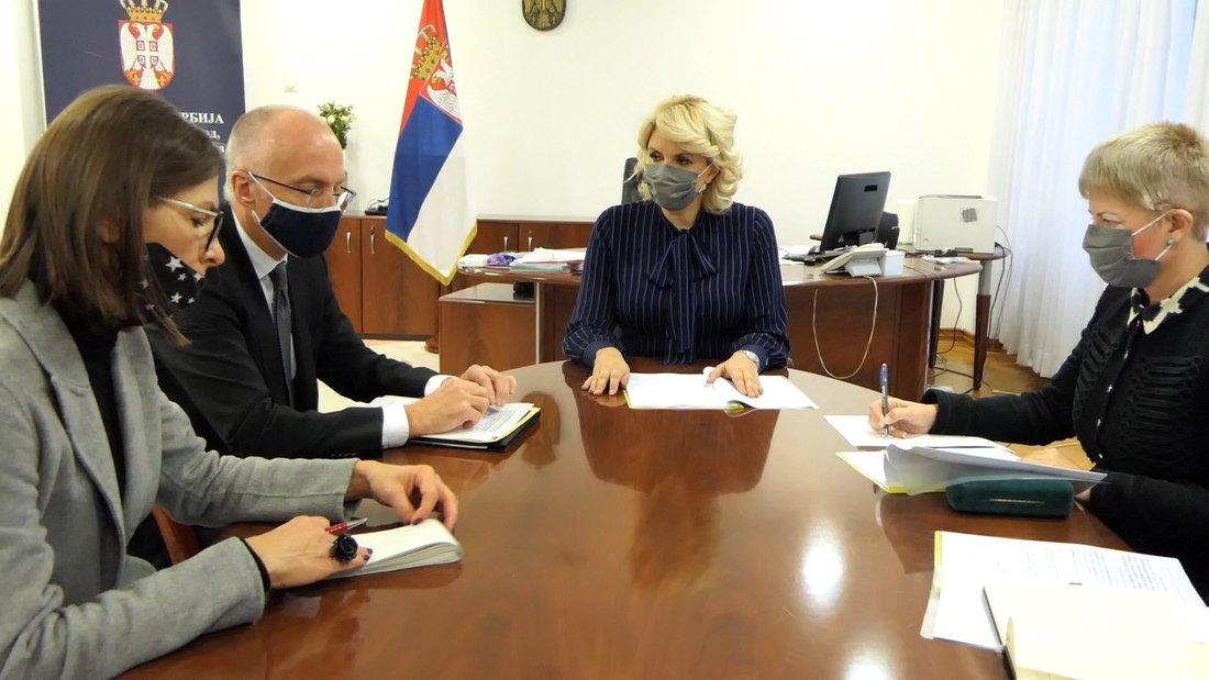 Kisić Tepavčević sa ambasadorom Nemačke o saradnji