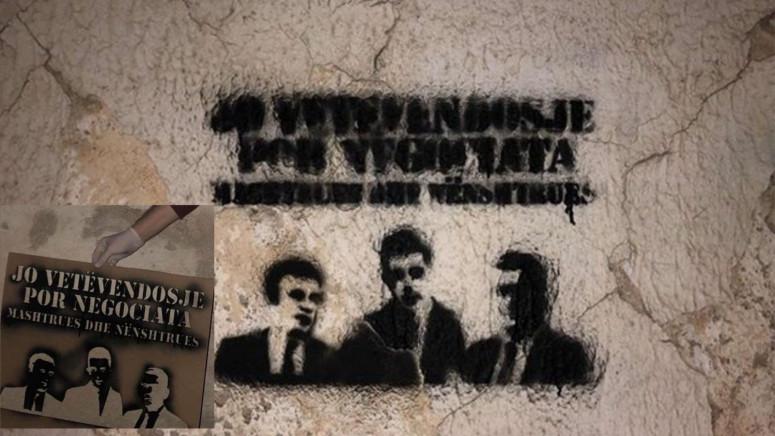 U Lipljanu grafiti Kurti-Đurić-Svečlja