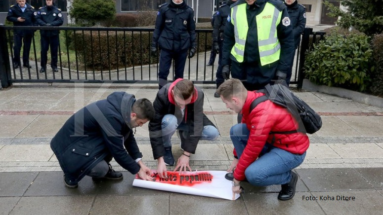 Grupa studenata u Prištini protestovala zbog neformiranja vlade