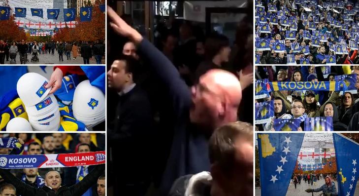 Engleska javnost šokirana ponašanjem navijača na Kosovu: Vređali Srbe uz nacistički pozdrav
