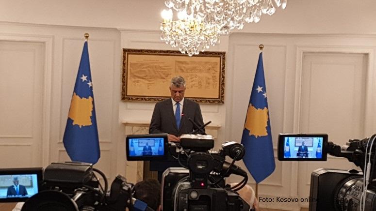 Tači: Odnosi sa SAD nisu ugroženi, spremni smo za postizanje konačnog sporazuma sa Beogradom
