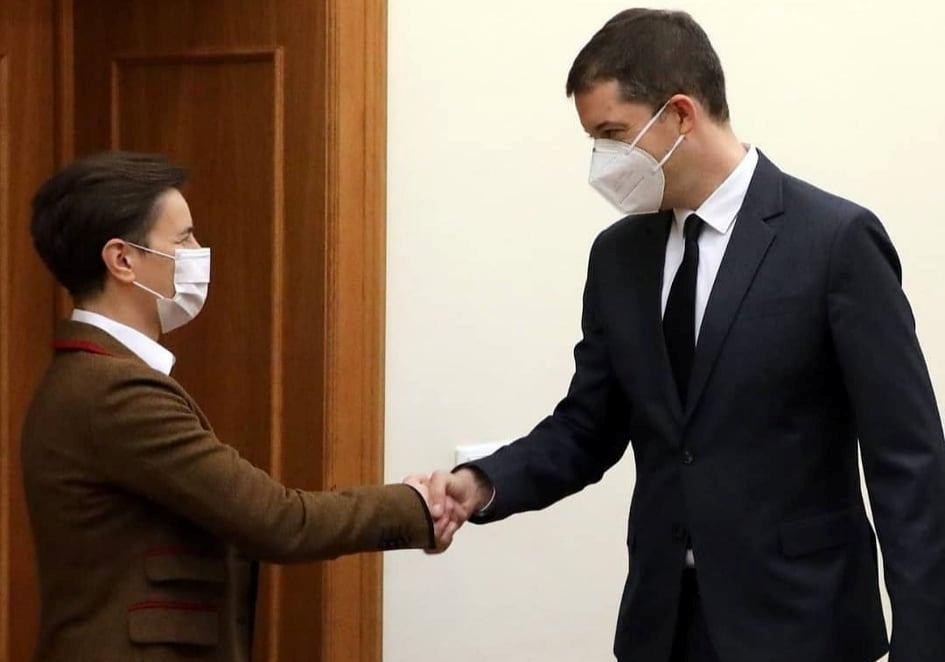 Brnabić sa ambasadorom Đurićem o spoljnopolitičkim prioritetima