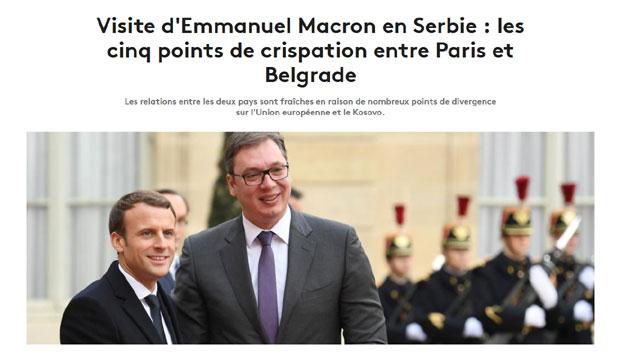 Francuski mediji o Makronovoj poseti: Vreme otopljavanja