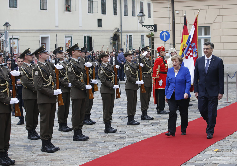 Angela Merkel stigla u Zagreb