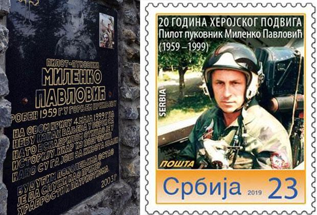 Uspomena na heroja Milenka Pavlovića
