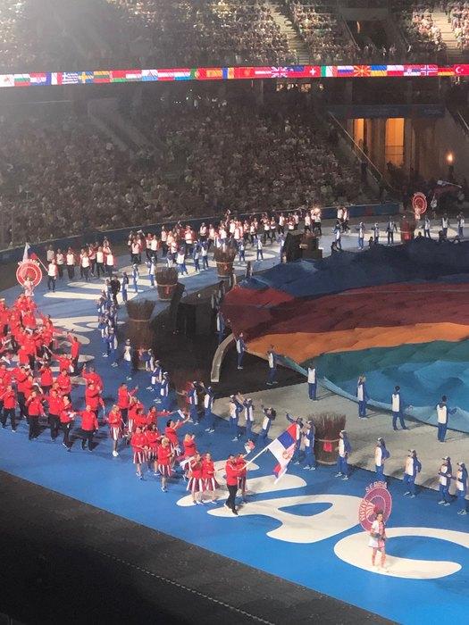 Vučić u poseti sportistima iz Srbije na Igrama u Minsku