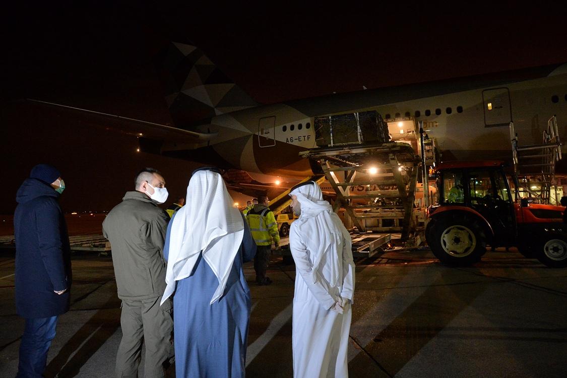 Stigao avion sa medicinskom pomoći iz Ujedinjenih Arapskih Emirata