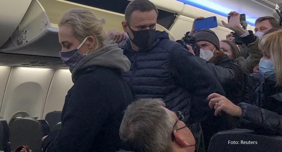 Navaljni priveden na aerodormu Šeremetjevo u Moskvi