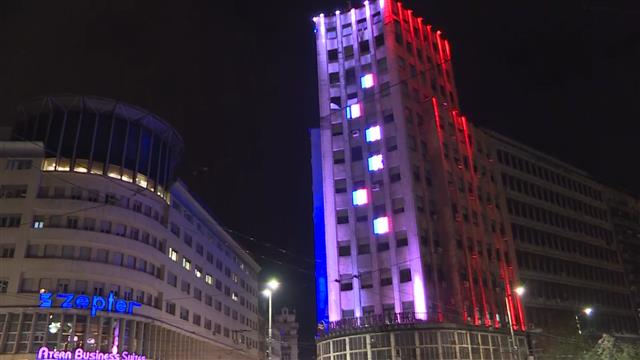 Simboli Beograda u bojama Francuske
