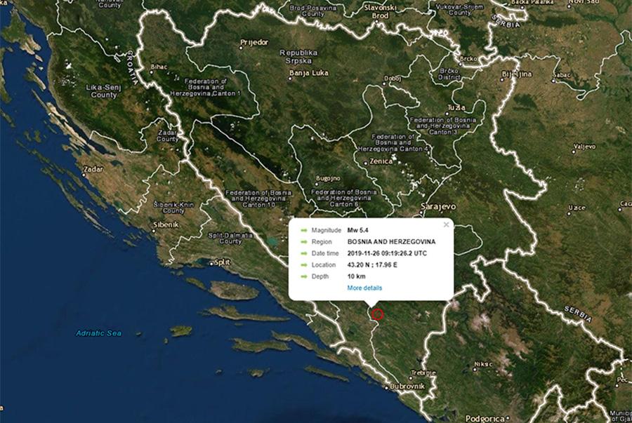 Novi zemljotres kod Nevesinja