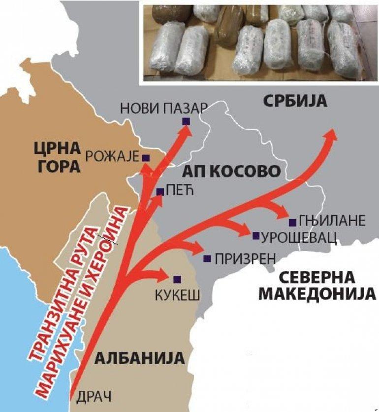 Kosovo centar šverca narkotika: Izveštaj mreže Globalna inicijativa protiv međunarodnog organizovanog kriminala na Balkanu