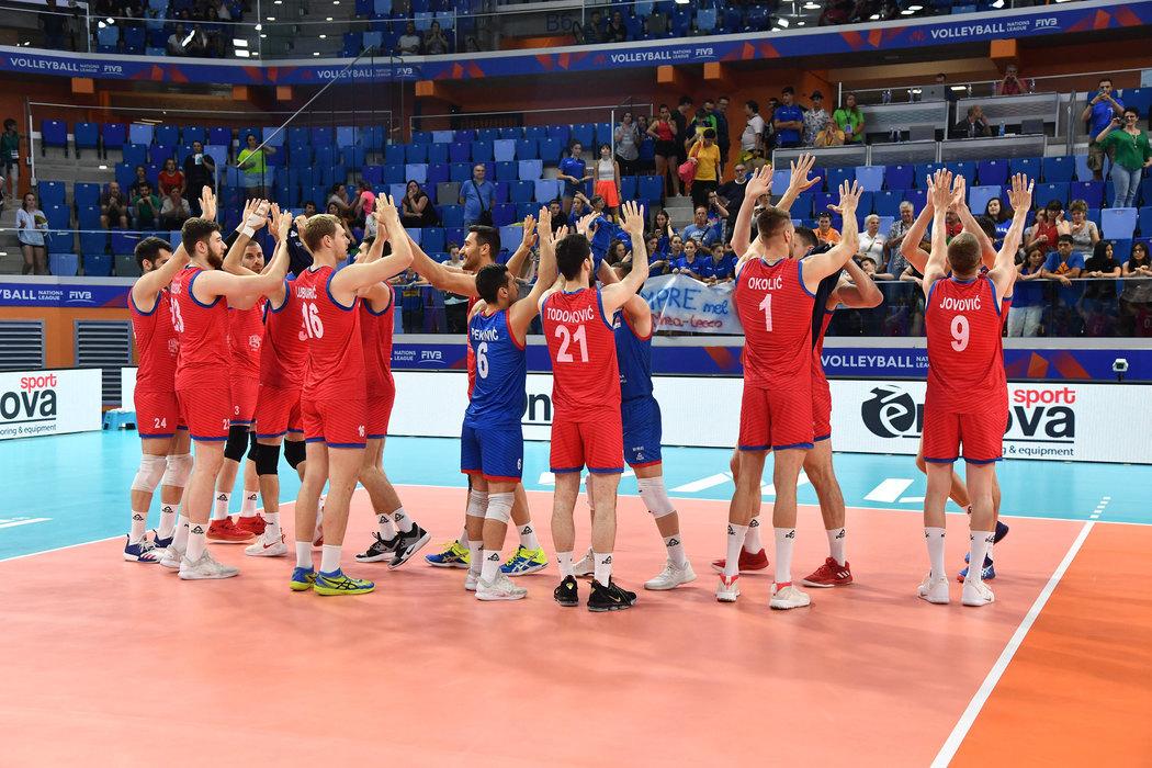 Odbojkaši Srbije ubedljivi protiv Belgije za prvo mesto