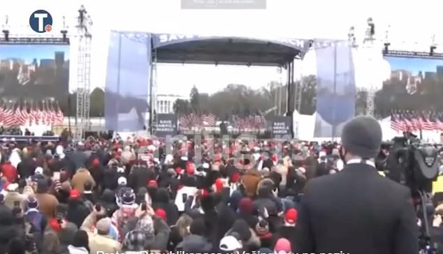 Počelo okupljanje Trampovih pristalica pred sednicu Kongresa