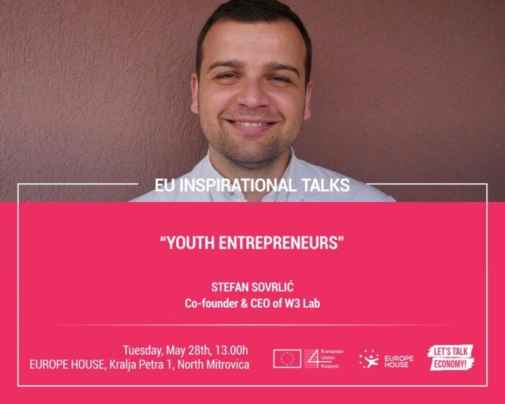 Mladi preduzetnik Stefan Sovrlić sutra gost Evropske kuće