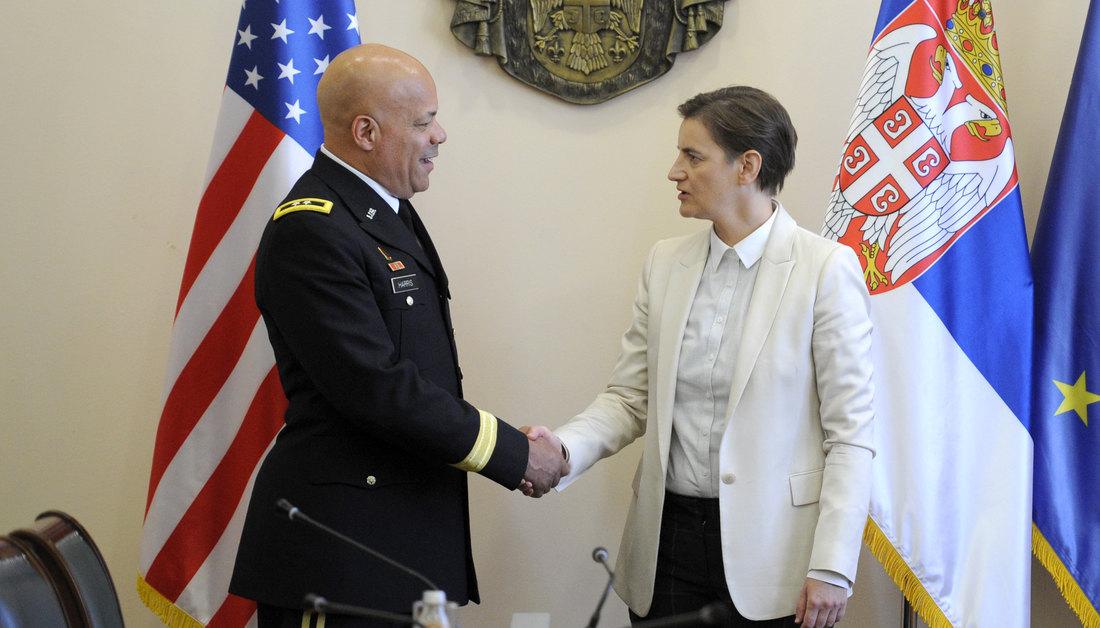 Brnabić: Isticati primere istorijskog savezništva sa SAD