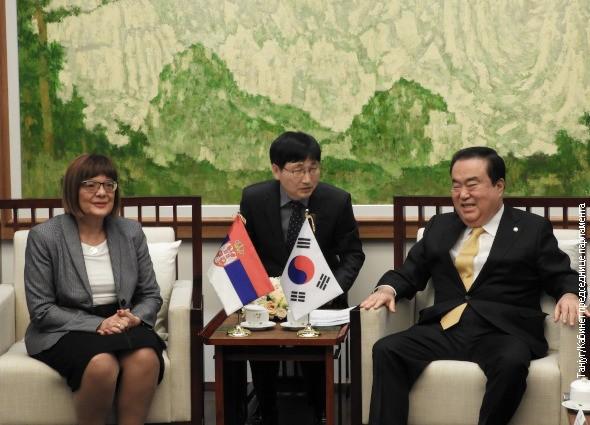 Gojković sa predsednikom Parlamenta Republike Koreje, potpisan Memorandum o razumevanju