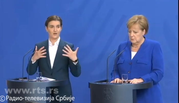 Merkelova i Brnabićeva saglasne da je politička i ekonomska saradnja odlična, jedino neslaganje je oko Kosova