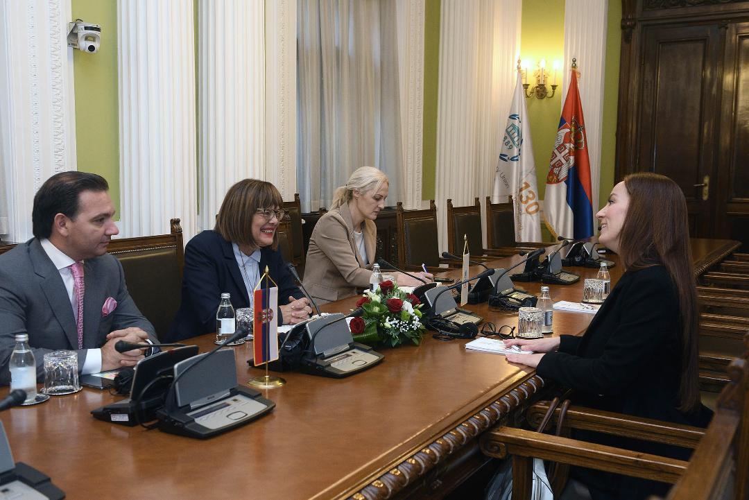 Gojković sa predsednikom Interparlamentarne unije Gabrijelom K. Baron