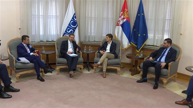 Brnabić i Greminger o saradnji Srbije i OEBS