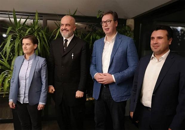 Vučić i Brnabić ugostili Zaeva i Ramu na Petrovaradinskoj tvrđavi