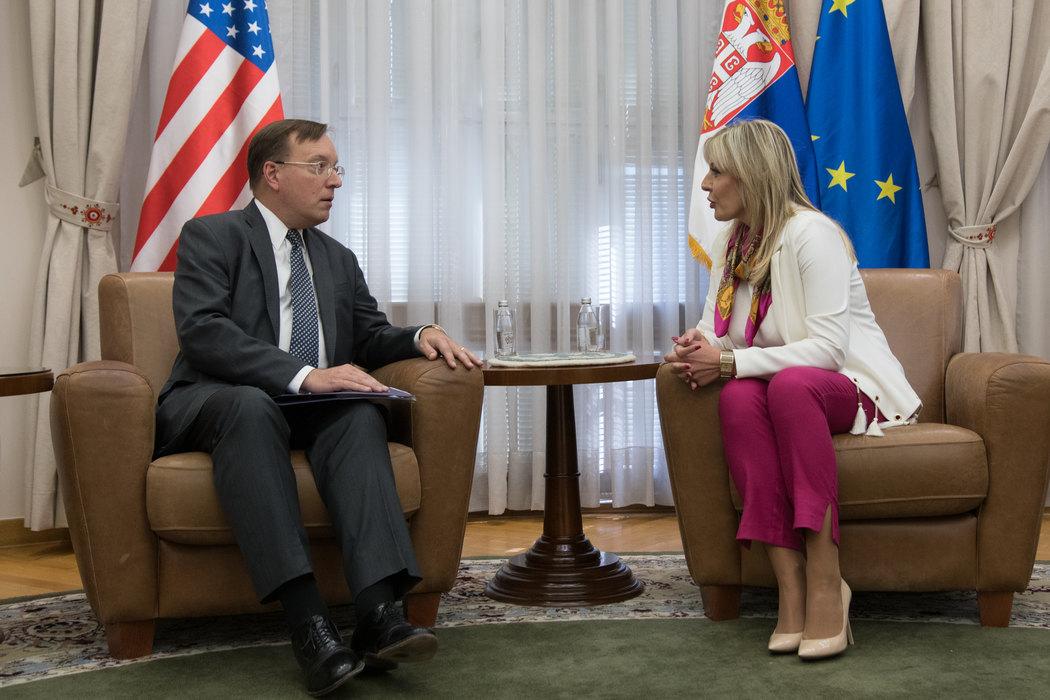 Joksimović: Srbija značajan regionalni partner SAD