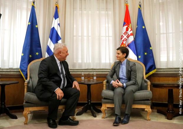Brnabić sa ambasadorom Diakofotakisom uoči posete Grčkoj