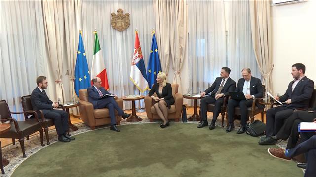 Mihajlović i italijanski ambasador o poseti Ðuzepea Kontea Srbiji
