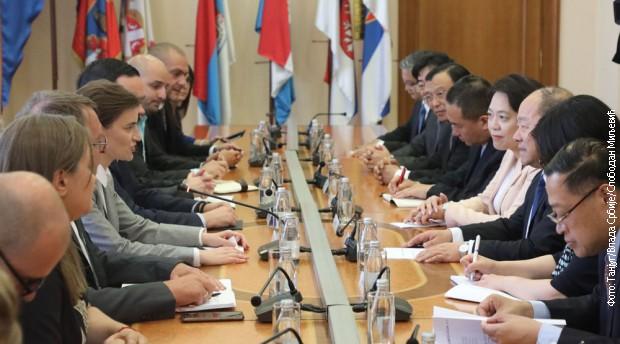 Brnabić: Sveobuhvatno partnerstvo sa Kinom