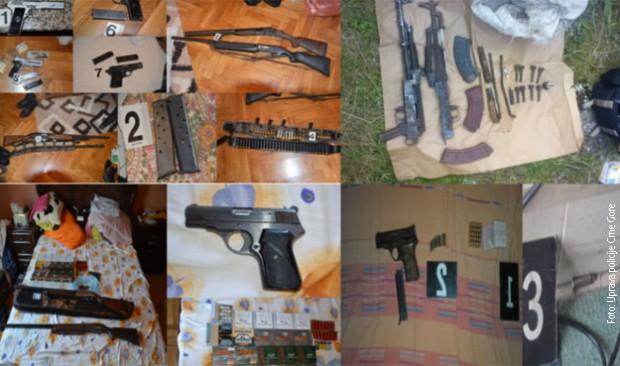 Velika zaplena oružja i municije u Crnoj Gori