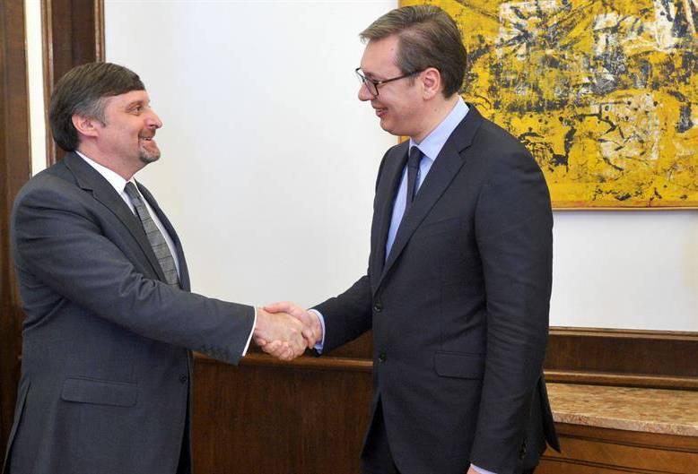 Vučić danas sa Palmerom i Vilsonom