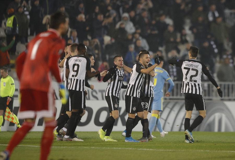 Partizan ubedljiv protiv Astane za oproštaj od Evrope