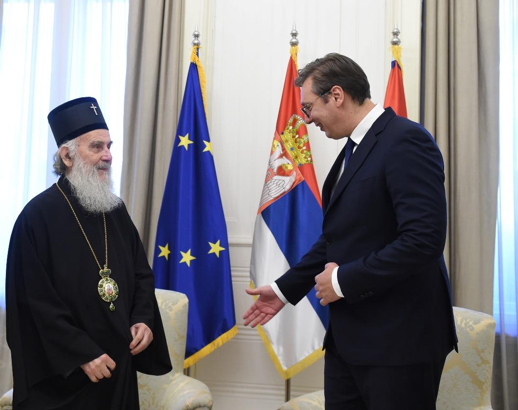 Vučić sa patrijarhom o KiM :  Ostaje nam da se borimo koliko možemo