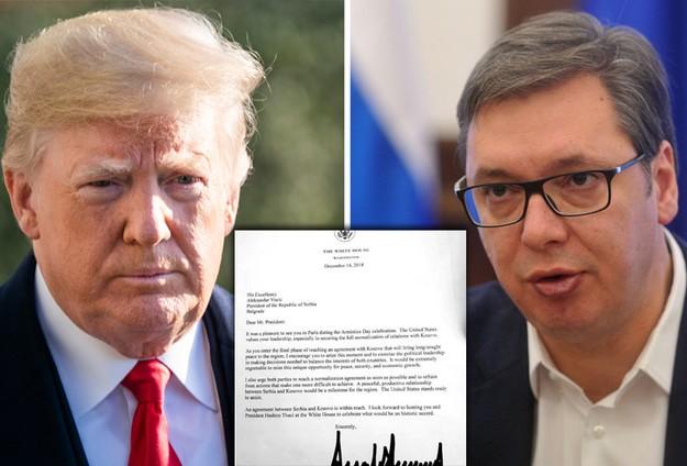Tramp pisao Vučiću: Bila bi šteta propustiti priliku za mir