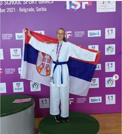 Teodora Savić iz Leposavića osvojila treće mesto na Svetskim školskim igrama u karateu