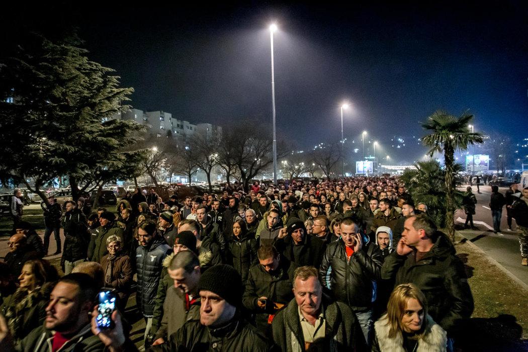 Poruke sa litije u Podgorici: Crna Gora naša zemlja, a SPC naša crkva