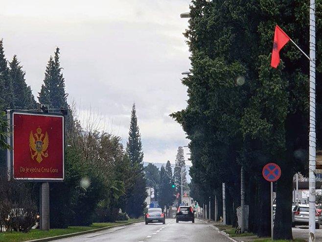Meta danas u Podgorici, grad okićen albanskim zastavama