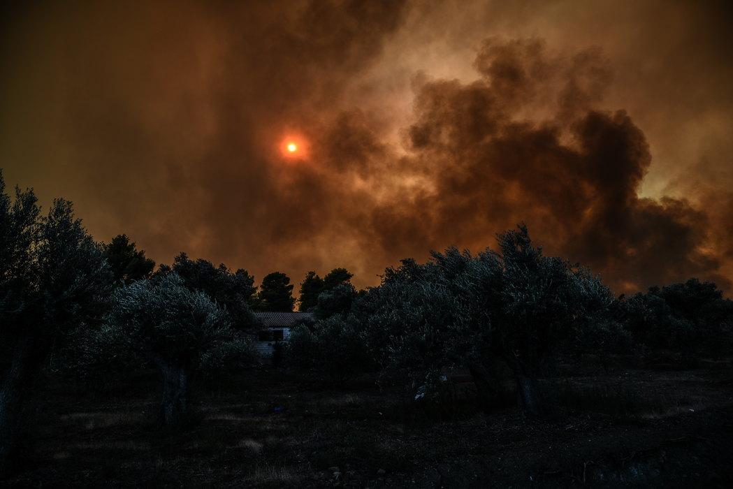 Besne požari na grčkom ostrvu Evija
