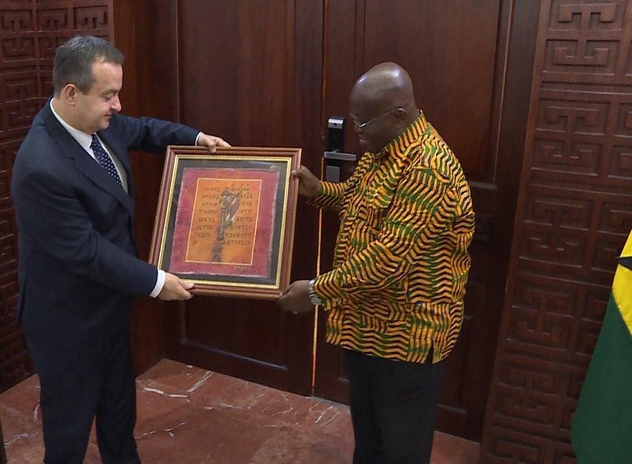 Dačić sa predsednikom Gane o KiM, unapređenju saradnje