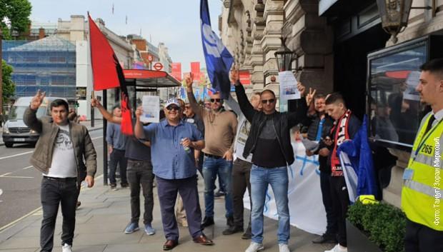 Protest protiv Edija Rame u Londonu